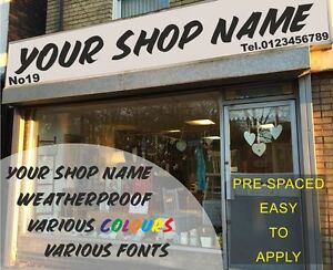 Custom Fascia Sign Vinyl Graphics Business Name Lettering Self Adhesive Signs 5M