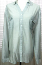 CHICO Size 4 XXL Semi Sheer Buttoned Shirt Pockets