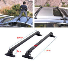 2x Car SUV Aluminum Roof Top Rack Bar Luggage Rack Luggage Cross Bars anti-theft