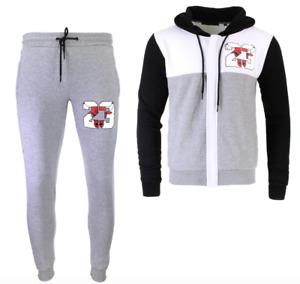 Mens 23 Sweat Suit Zip Up Hoodie Joggers Pants Fleece Jogging Matching Jordans