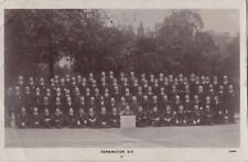 POSTAL STAFF, KENSINGTON SORTING OFFICE, LONDON : REAL PHOTO POSTCARD (1907)