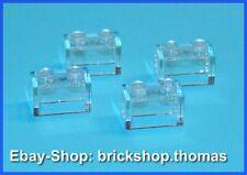 Lego 4 x Steine Bausteine transparent 3065 Brick 1 x 2 Trans-Clear - NEU / NEW