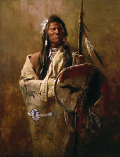 Howard Terpning STATUS SYMBOLS, w/remarque Native American, giclee canvas #83/90