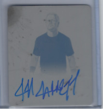 JEFF JARRETT 2017 LEAF ORIGINALS WRESTLING 2014 ARTWORK PRINTING PLATE AUTO 1/1