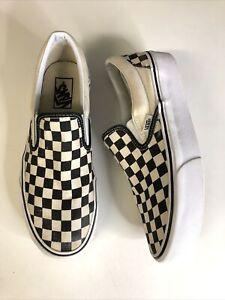 Vans Platform Checkerboard Slip On Trainers - Size 7
