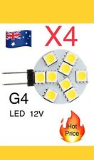 4x G4 Warm White 9 LED 5050 SMD Light Lamp Bulb DC 12V CS Globe