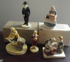 Lot of 5 Vintage Sebastian Miniature Figurines 2 in Boxes