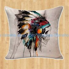 US Seller-Day of the Dead sugar skull cushion cover home decoration make pillow