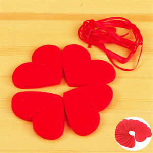 Love Valentines Day Strings Home Decoration Party Engagement Red Heart Tassel