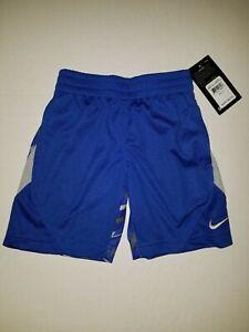 NWT Boys Youth Nike Avalanche Zig Zag Shorts Dri Fit Blue 86B822-U89 Size 4 $24