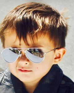 2 TOP GUN MAVERICK KIDS SILVER MIRROR AVIATOR SUNGLASSES FREE PILOT WINGS PINS