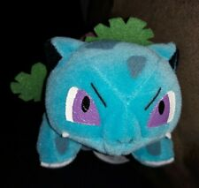 "VINTAGE 1998 Pokemon Ivysaur ""Game Freak"" Plush Toy Nintendo Blue Blue w/Flower"