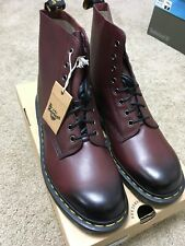 NEW Dr Martens Pascal 8 Eye Cherry Red Antique Temperley Boots Unisex US12 EU46