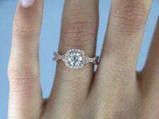 Anillos de joyería con diamantes de oro rosa de compromiso de 18 quilates