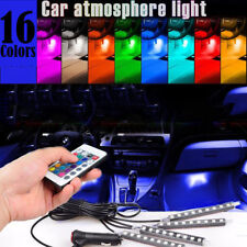 4 x 9 LED RGB Auto Luci Interne Atmosfera Usb Striscia Colori Decor Luci
