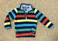 Joules Boys Fleece Jacket, Size Age 6, Fits 4-5, Striped, Shaggy, Free P&P
