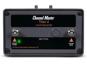 Channel Master Titan 2 High Gain TV Antenna Preamplifier Signal Amplifier 7777V3