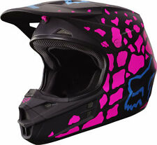 Fox Racing Adult V1 2017 Motocross Helmet Grav Women's Ladies Pink Black Small