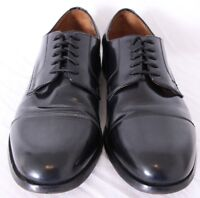 Florsheim 11222 Broxton Glossy Black Leather Cap Toe Shoes Oxford Men's US 8.5D