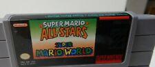 Super Mario All-Stars + Super Mario World SNES Super Nintendo ORIGINAL AUTHENTIC