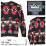vtg Woolrich Mens Large Black Red Aztec Navajo Heavy Hand Knitted L/S Sweater