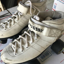 Riedell Carrera Roller Speed Skates Carrera 96a Wheels White Size 7 Men's-Used-