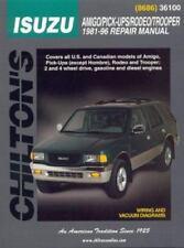 Chilton Repair Manual Amigo,Pick-ups (Except Hombre),Rodeo,Trooper 1981-1996