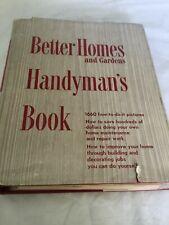 BETTER HOMES & GARDENS HANDYMAN's BOOK, FIRST EDITION