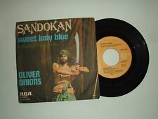 "Oliver Onions–Sandokan/Sweet Lady Blue -Disco Vinile 45 Giri 7""  Italia 1976"