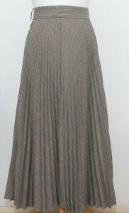 Zara Tartan Grey Pleated Skirt Size XS BNWOT