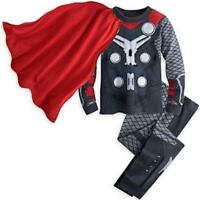 Thor Kids Toddler Boy Pajamas Sleepwear Tracksuit T-shirt Costume Set Cosplay