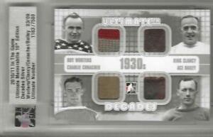 "2003-04 ITG Ultimate WORTERS, CLANCY, CONACHER, ""ACE"" BAILEY Decades 1930's /9"