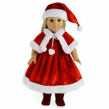 1set Doll Christmas Costume Uniform Suit Accessories for 18 Inch Toy Suit USA