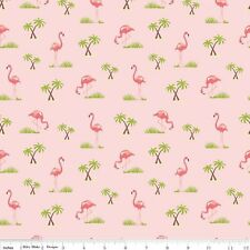 Riley Blake Flamingos Pink 100% Cotton Fabric Quilting Patchwork Quarter Half