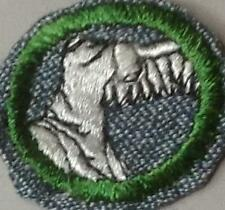 1947 Girl Scout SG Badge SCULPTURE  White Backstich