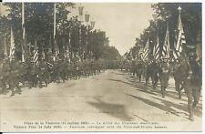 CPA -75- PARIS - Fêtes de la Victoire (14 Juillet 1919) Le Défilé des drapeaux .