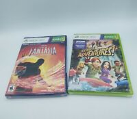 Kinect Adventures + Fantasia Games Sealed! Xbox 360) Xbox One Compatible