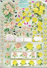 Rose Flowers Freestyle Die Cut Dufex 3d Decoupage Craft Sin Corte necesarios