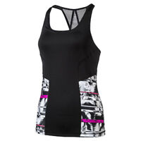Puma 2-in-1 Tank Top with Pretty Racer-Back in Black/White Print - 33% OFF RRP