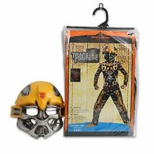 Costume Transformers Bumblebee Muscle Chest Jumpsuit + Mask Boy S 4-6X NEW