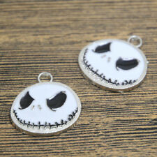 10pcs nightmare before christmas Silver Plated jack halloween Charm 24x26mm