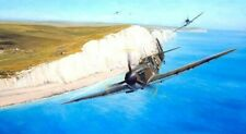 "Richard Taylor art ""Coastal Patrol"" A/P SOLD OUT  #8/25 Mk 1 Spitfires 3 sign"