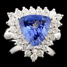 CERTIFIED $13528 14K Gold 2.45ct Tanzanite & 2.45ctw Diamond Ring