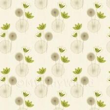 Miniatura Per Casa Delle Bambole Stilizzato Verde Salvia Carta Da Parati Fiore