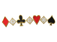 """#2934 7 3/8"""" Poker Card Gambling Casino Embroidery Iron On Applique Patch"""