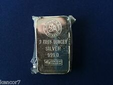 Argor SA Chiasso Switzerland Three Ounce Proof Silver Art Bar E4168