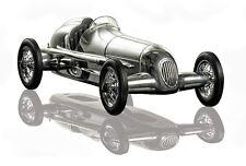 Silberpfeil Model Racecar Black Seat Polished Aluminum (video)