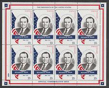 GB Locals - Staffa 3409 - 1982 US PRESIDENTS #37 RICHARD M NIXON sheet of 8 mnh