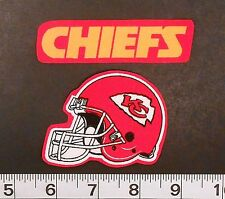 FREE SHIPPING NFL Kansas City Chiefs Iron On Fabric Applique Patch Logo DIY