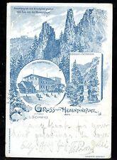 Germany Gruss vom HEXENTANZPLATZ 1898 u/b PPC crease